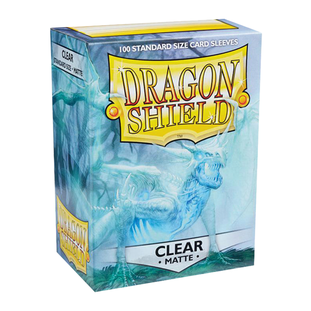 100 Dragon Shield Matte : Clear (10)