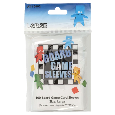 100 Board Game Sleeves : Clear Large 59x92mm (10)