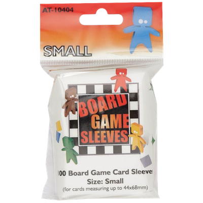 100 Board Game Sleeves : Clear Small 44x68m (10)