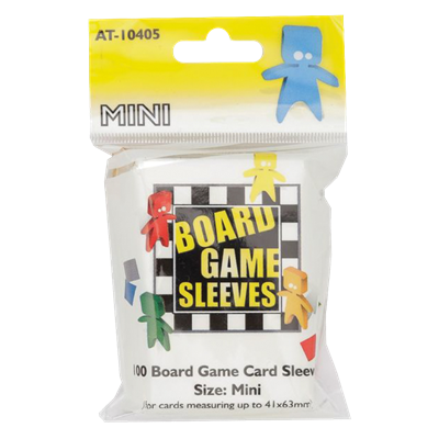 100 Board Game Sleeves : Clear Mini 41x63mm (10)
