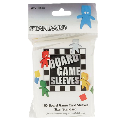 100 Board Game Sleeves : Standard 63x88mm (10)