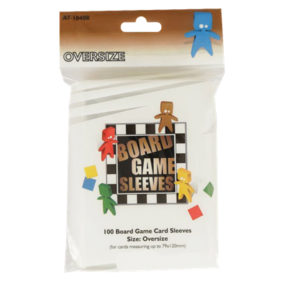 100 Board Game Sleeves : Oversize 82x124mm (10)