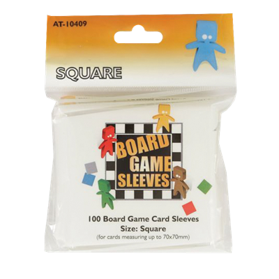 100 Board Game Sleeves : Square 69x69mm (10)