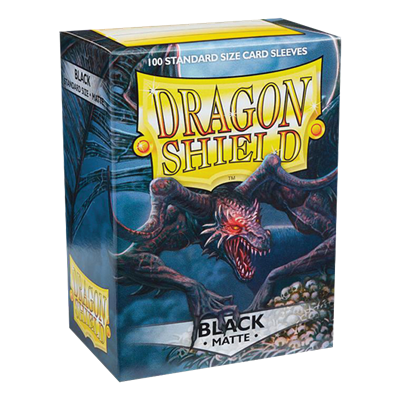 100 Dragon Shield Matte : Black (10)