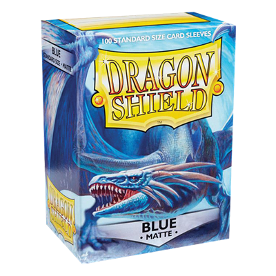100 Dragon Shield Matte : Blue (10)