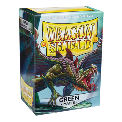 100 Dragon Shield Matte : Green (10)