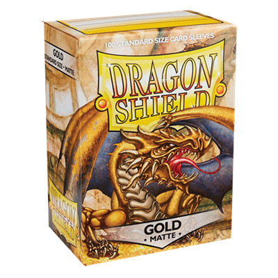 100 Dragon Shield Matte : Gold (10)