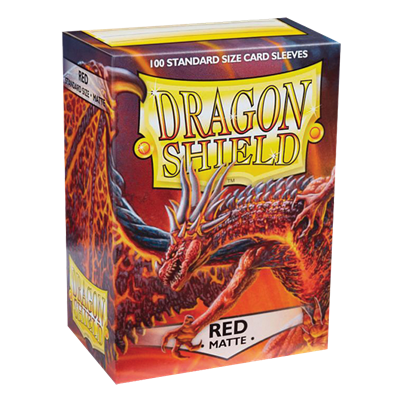 100 Dragon Shield Matte : Red (10)