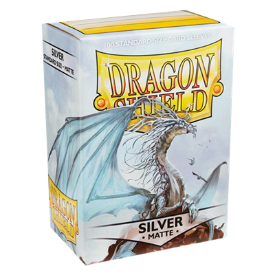100 Dragon Shield Matte : Silver (10)