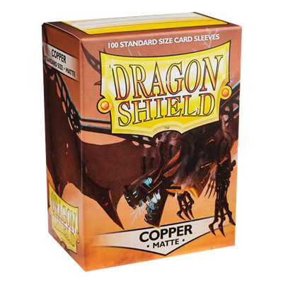 100 Dragon Shield Matte : Copper (10)