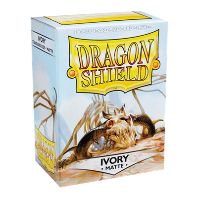 100 Dragon Shield Matte : Ivory (10)