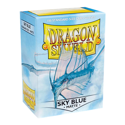 100 Dragon Shield Matte : Sky Blue (10)