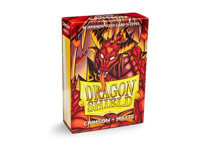 100 Dragon Shield Matte : Crimson (10)