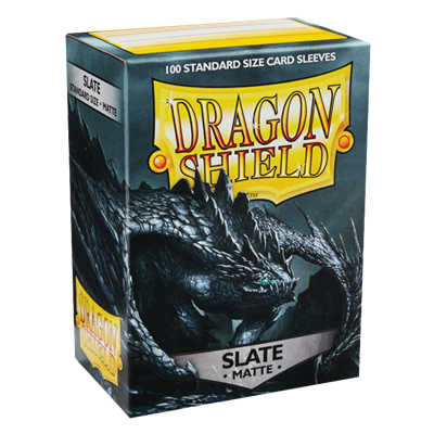 100 Dragon Shield Matte : Slate (10)