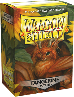 100 Dragon Shield Matte : Tangerine (10)