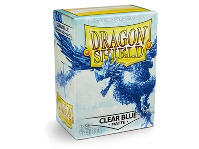 100 Dragon Shield Matte : Clear Blue (10)