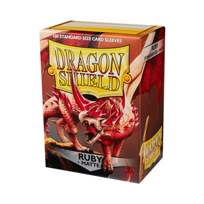100 Dragon Shield Matte : Ruby (10)