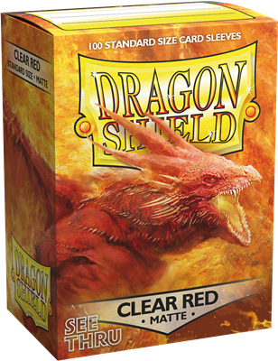 100 Dragon Shield Matte : Clear Red (10)