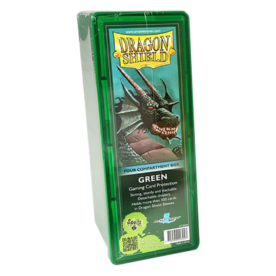 Dragon Shield : Box 4 Compartments Green