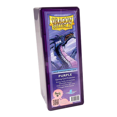 Dragon Shield : Box 4 Compartments Purple