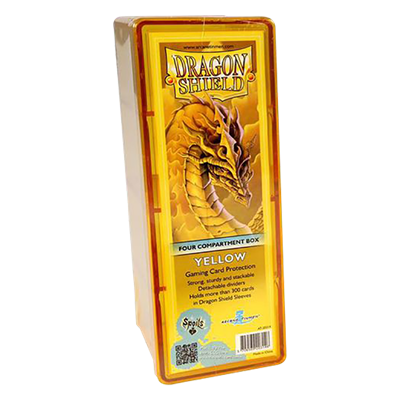 Dragon Shield : Box 4 Compartments Yellow